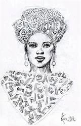 African Sketch Woman Illustration Drawing Pen Turban Paper Gemerkt Zeichnungen Von Uploaded User Getdrawings Kira Scarf sketch template