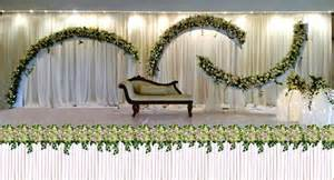 muslim wedding decorations wedding ideas clean white color decoration wedding stage