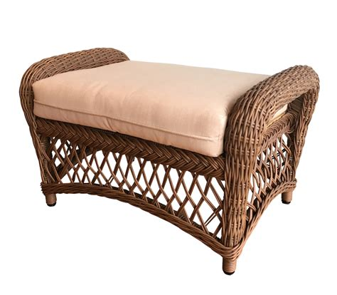 outdoor wicker ottoman savannah