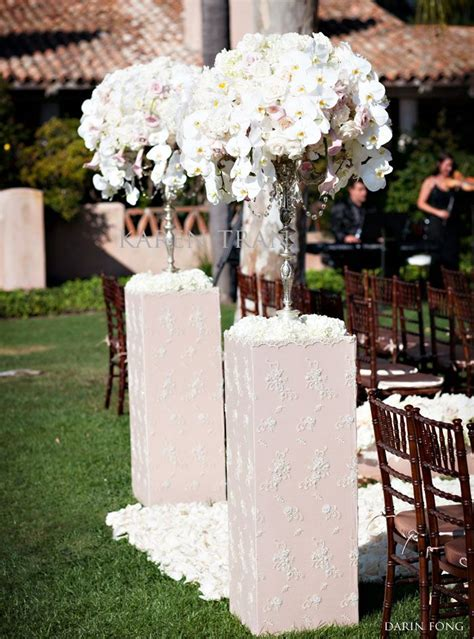 Lace Columns For Wedding Ceremony ~ Makes A Romantic