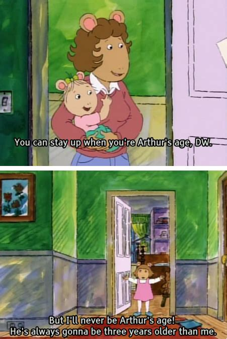 Arthur Dw Meme - you can stay up when you re arthur s age dw but i ll never be arthur s age he s always gonna
