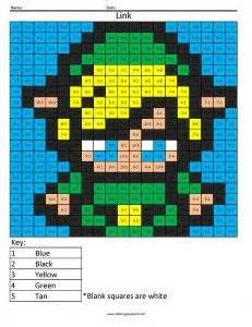 math pixel art coloring pages  printable