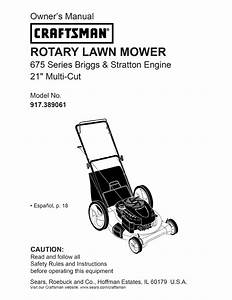 Craftsman Lawn Mower 38906 User Guide