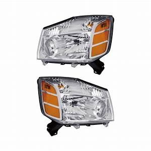 2006 Nissan Titan Headlight Assembly Pair Pair Of Headlight Assemblies 16