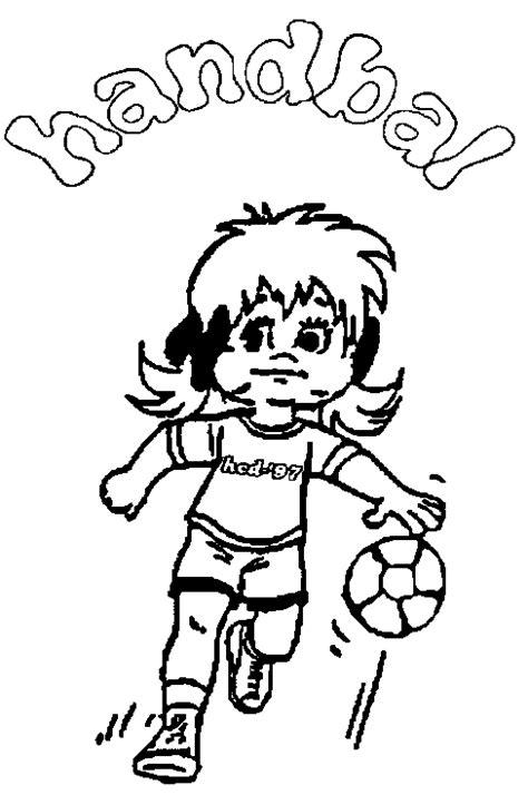 Kleurplaat Handbal kinderpleinen handbal kleurplaten
