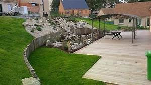 enchanteur amenagement terrain en pente avec jardin en With jardin en pente amenagement 12 les terrasses