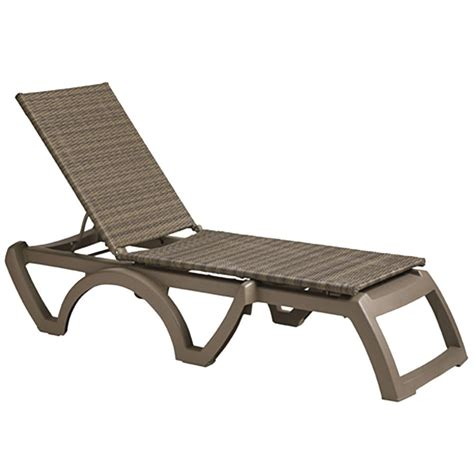 grosfillex outdoor java patio chaise resort contract