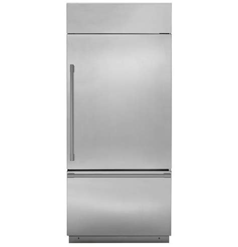 zicsnnrh monogram  built  bottom freezer refrigerator  early
