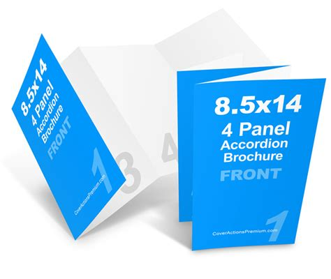 8 5 X 5 5 Accordion Fold Brochure Template 8 Page Accordion Fold Brochure Mockup Cover Actions