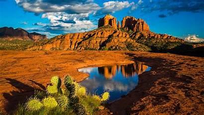 Sedona Arizona Desktop Landscape Nature Rock Cathedral