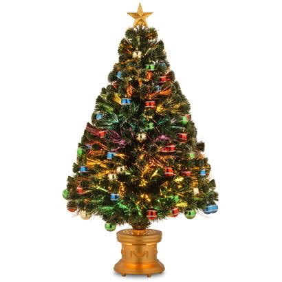48 in fiber optic fireworks ornament christmas tree with