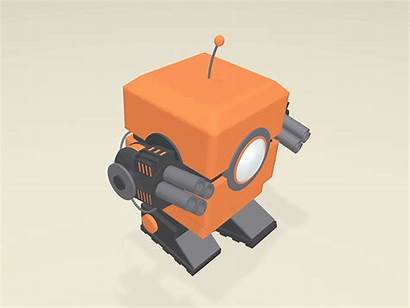 Robot Nerf Turret 3d Simple Gun Bot