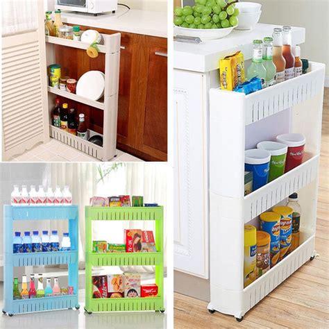 slimline kitchen storage slim slide out kitchen trolley rack holder storage shelf 2325