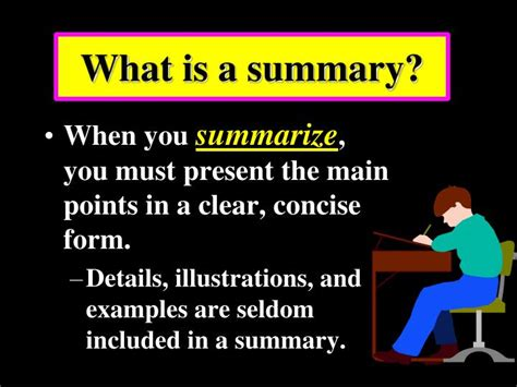 Ppt  What Is A Summary? Powerpoint Presentation Id1028036