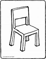 Chair Drawing Colouring Kiddicolour Mail Drawings sketch template