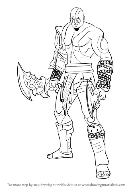 Learn How To Draw Kratos From God Of War God Of War Step