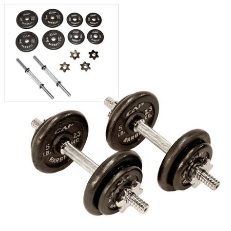cap barbell  lb dumbbell set review