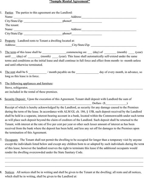 lease agreement forms documents  pdfs