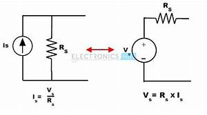 source transformation With simple current source voltage causes current voltage to current