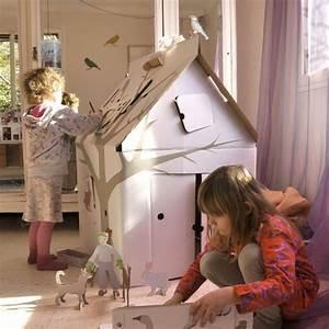 Cabane En Carton À Colorier : cabane en carton magique cr ative et cologique ~ Melissatoandfro.com Idées de Décoration