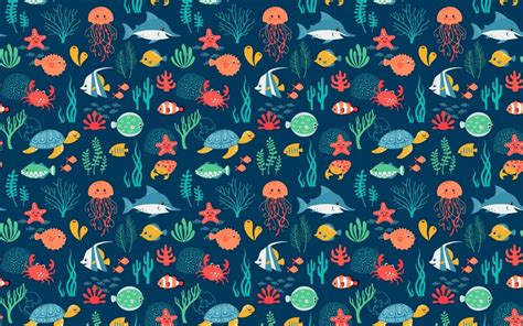 Animal Pattern Wallpaper - sea animals pattern wallpapers sea animals pattern stock