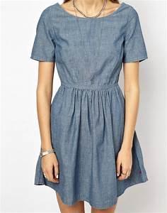 levis levi39s robe en jean chez asos With robe jean levis