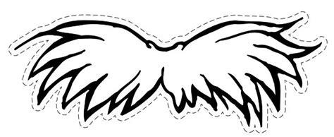 lorax mustache template mustache printables clipart clipart suggest