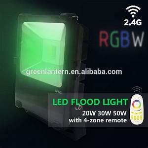 G rgbw w led flood lights with zone remote view