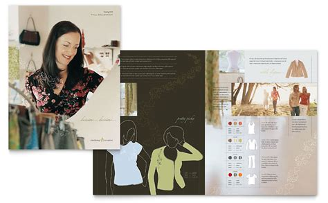 womens clothing store brochure template word publisher