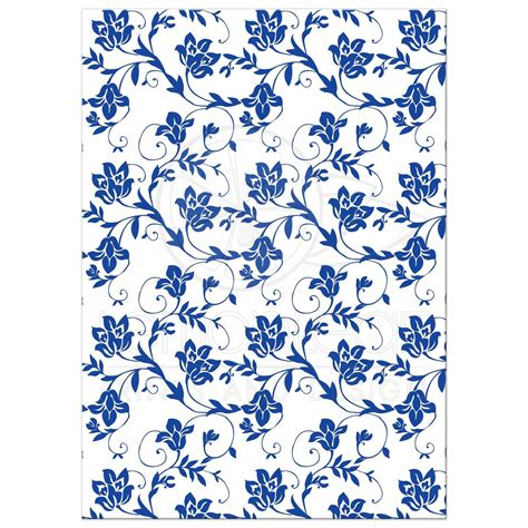 blue and white floor l daisy wedding invitation royal blue floral damask ribbon