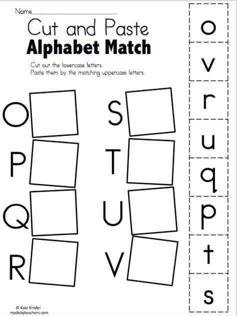 Alphabet Match O To V  Free Worksheets Madebyteachers