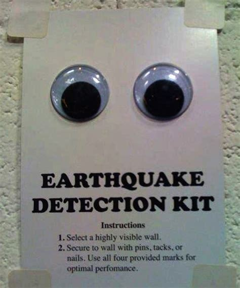 earthquake detection kits joke gifts gag gifts