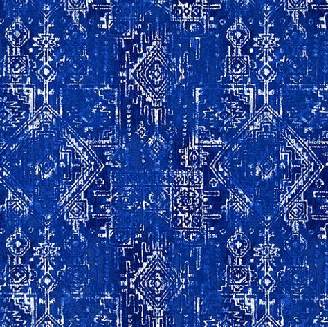 royal blue southwest outdoor fabric by the yard by