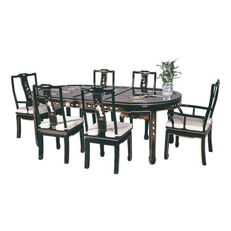 table 6 chaises table chinoise de salle à manger avec 6 chaises et 2