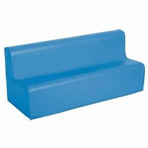canape 3 places en mousse avec housse en pvc bleu nc With tapis enfant avec canape mousse depliable