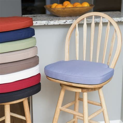 Deauville 17 x 17.25 in. Windsor Bar Stool Seat Cushion