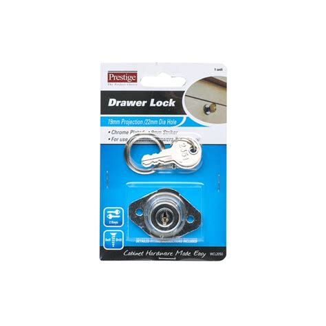 prestige chrome plated drawer and cabinet lock bunnings