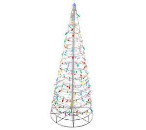 4 pre lit collapsible outdoor christmas tree with led lights qvc com