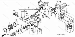 Honda Atv 2004 Oem Parts Diagram For Swingarm