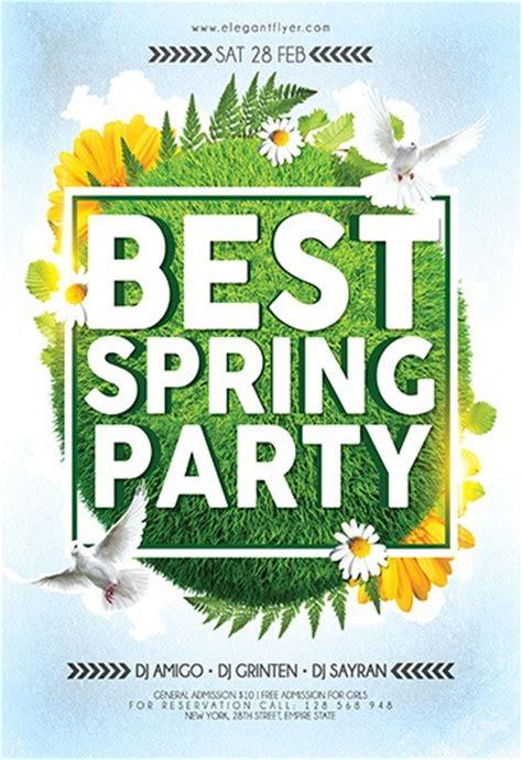 spring party flyer psd template  elegantflyer