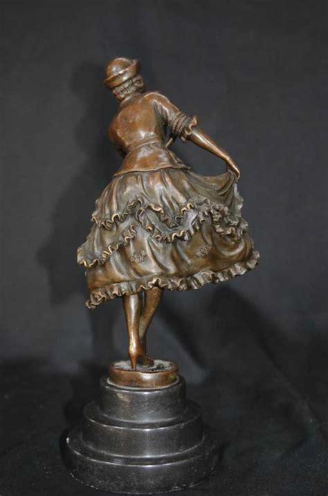 deco statue dancer colinet
