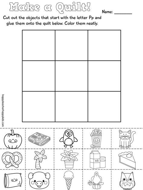 letter p activities kindergarten and phonics