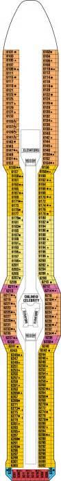 Cruises Deck Plans Solstice by Continental Deck Deck Plan