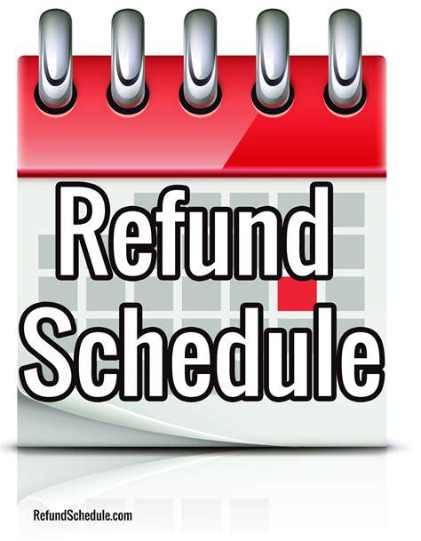 refund schedule  irs refund schedule