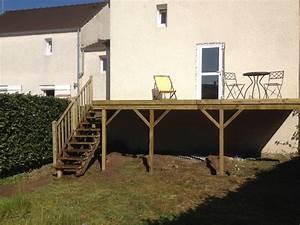 construire terrasse sur pilotis balcon en bois sur With construire terrasse bois pilotis