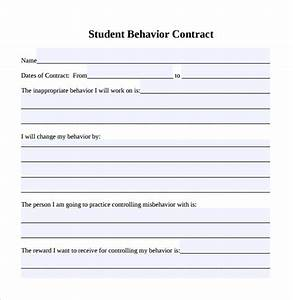 Sample behaviour contract 15 free documents download in for Student contracts templates