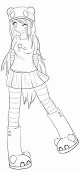 Panda Anime Pages Coloring Deviantart Drawings Angel Lisey Drawing Printable Manga Emo Chu Braids Sketch Template Side Getcolorings Boy sketch template