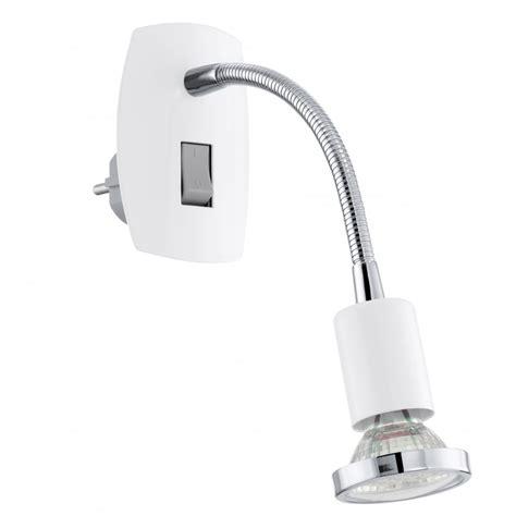 eglo mini long neck white wall spot light ideas4lighting