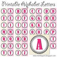 alphabet printables letters monograms initials ausdruckbare alphabete