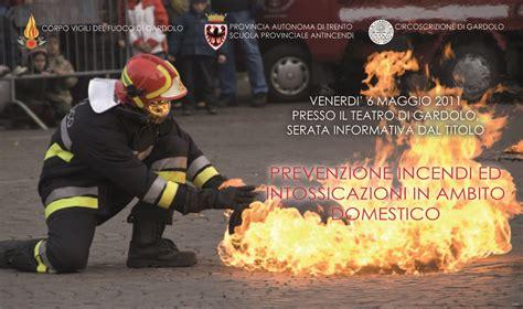 dispense vigili fuoco vigili fuoco volontari di gardolo scuola provinciale